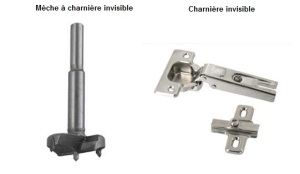Mèche Charnieres invisibles